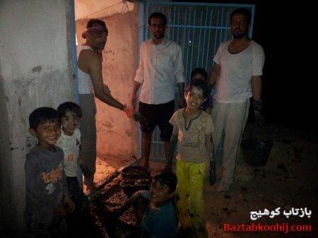 لایه روبی آب انبار محله قبله با کمک اهالی